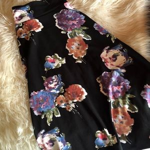 Agnes & Dora shady day floral Midi Skirt